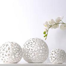 Ombre à lampe en forme de boule en céramique
