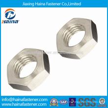 Высокая прочность на растяжение 18-8 Нержавеющая сталь с тонкими орехами