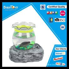 Engraçado mini aquário de caranguejo de tartaruga mini