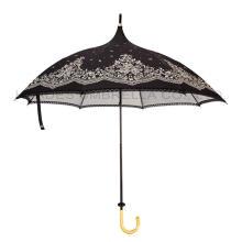 Parapluie de parapluie de pagode de dentelle vintage des femmes