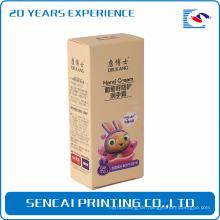 Sencai benutzerdefinierte Hand Creme Flasche Quadrat oder Rechteck Papier Box