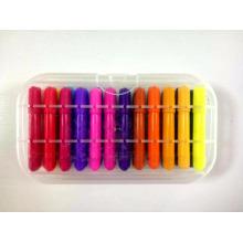 oil lip rainbow rotatable plastic crayon