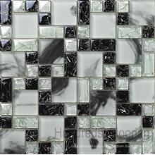 Cracked Mosaic, Mosaic Wall Tile, Crystal Glass Mosaic (HGM282)