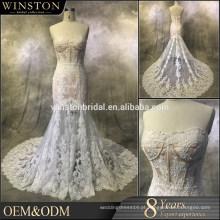 Vestidos de noiva de organza em camadas de moda profissional melhor turco