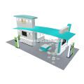 Detian ofrece una cabina de exposición de aluminio de excelente diseño de 20x30 pies para comida de mascotas
