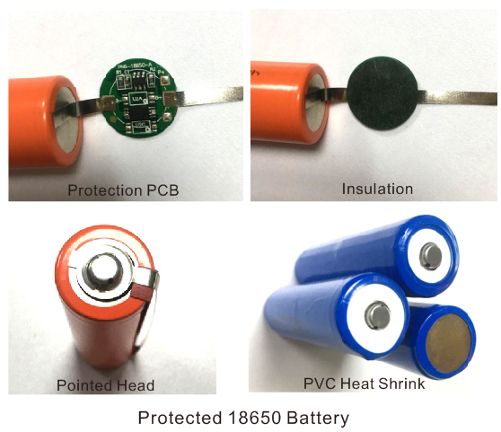 proteced 18650 battery