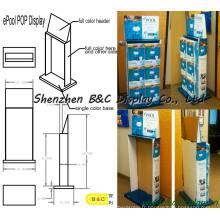 Présentoir de carton d'enregistreur de son, support de compteur de papier, étagère de support d'Unibody (B & C-A061)