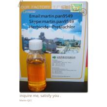Eficaz, amplamente utilizado Pretilachlor 95% TC, 50% EC, de boa qualidade herbicideCAS NO.:51218-49-6