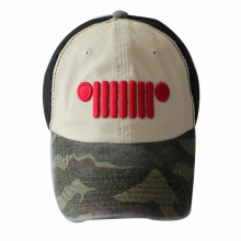 Washed Cotton Baseball Cap with 3D Embroidery