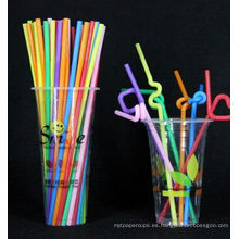 Pajas de beber plásticas de la decoración del día de la Navidad