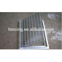 Grade de aço com nervuras de alta qualidade / piso de aço grating