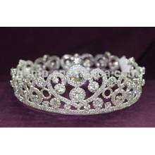 Круглая свадебная корона тиара