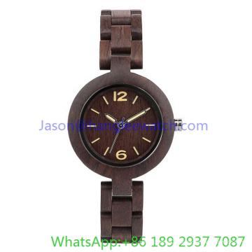 Relógios de Woodeb de alta qualidade de 2016 para mulher, relógio de quartzo (Ja-15174)