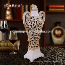 Decoración de la boda ornamento del día de fiesta ornamentos de la resina negocio regalo arte popular florero decorativo