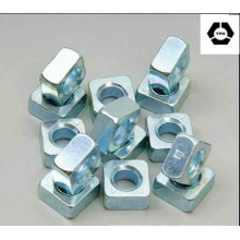 DIN557 Alloy Steel Square Nut with Zinc