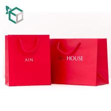 Bolsas de papel hechas a mano modificadas para requisitos particulares del precio de fábrica de las compras para los regalos