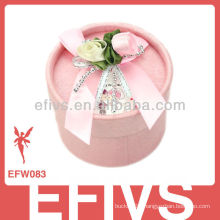 2013 Delicate Pink Cylinder Wedding Favor Box made in China