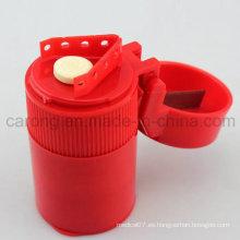 Plástico médico píldora trituradora y píldora contenedor