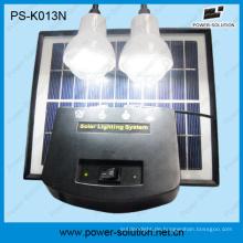 4W Portable LED Solar DC-Beleuchtungs-Kit mit 2PCS LED-Lampen