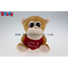 Valentines Day Gifts Big Eyes Toy Series Monkey Animal with Red Heart Bos1176