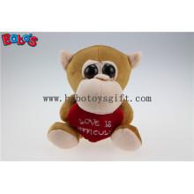 День Святого Валентина Подарки Большие глаза Игрушка серии Обезьяна животных с красным сердцем Bos1176