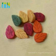 Nuevas llegadas Moda color diferente deja perlas de piedras preciosas de turquesa de forma