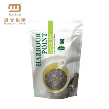 El embalaje impreso personalizado de la categoría alimenticia vacío se levanta el paquete superior de la bolsita de té del diseño de la cremallera plástica