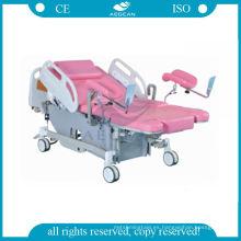 Más avanzado AG-C101A03B entrega eléctrica cama obstétrica silla de examen de ginecología del hospital