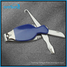 Multi-Function Fishing Tool Including Knife, File, Fish Grip, Nail Clipper