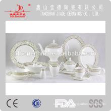 Cena de espresso nuevo diseño de la mejor placa de la taza de China de hueso de venta