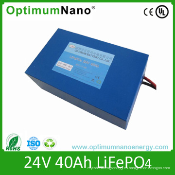 Batería de iones de litio 24V 40ah Soalr Batería de ciclo profundo de la batería