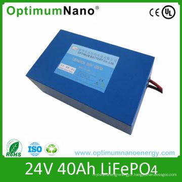 Batterie profonde de cycle de batterie de la batterie 24V 40ah Soalr de lithium