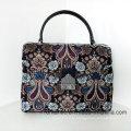 Fashion Stylish Lady PU Canvas Leather Embroidered Handbags (NMDK-032901)