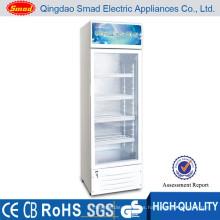 vitrina mostrador de jugos comerciales refrigerador de una puerta con cerradura y llave