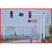 steel traffic signal lamp pole