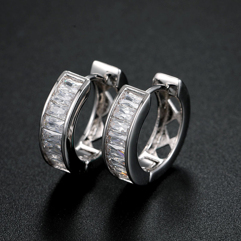 cubic zirconia hoop earrings