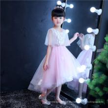 Halbes Hülsen-Spitze-kleines Mädchen-Kleid für Hochzeit