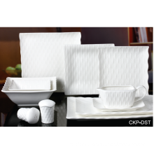 NEW BONE CHINA EMBOSSED TABLEWARE SET