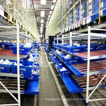 Slide Carton Flow Through Shelf for Dynamic Storage