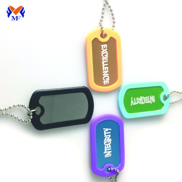 Custom cut dog tag collar