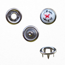 Nikel ücretsiz inci çatal uydur düğmesini desen kapaklı