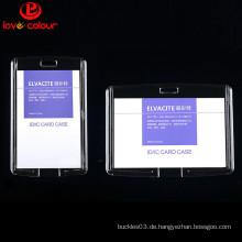 Fabrik benutzerdefinierte halb harte transparente wasserdichte ID-Kartenhalter