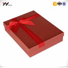 2016 großhandel schönes logo gedruckt rot bowknot gedruckt papier box