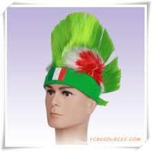 Los fanáticos del fútbol de la Copa Mundial anuncian la peluca Afro como regalo de promoción (PF14003)