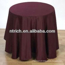Toalha de mesa descartável ornamentado, redonda toalha de mesa cetim sem padrões