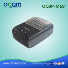 OCBP-M58: 2 pouces mini bluetooth thermique étiquette code à barres autocollant imprimante machine d'impression