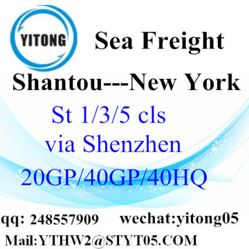 Shantou Sea Freight Agent naar New York