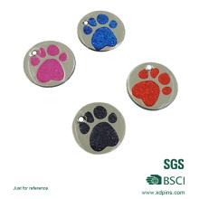 Étiquette faite sur commande de chien de patte en métal pour la décoration d'animaux