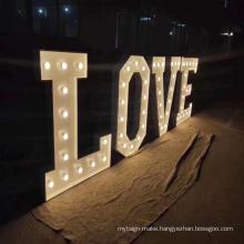 Letra en 3d Channel Letters Wedding Signs Bling Metal Letter LED Sign Logo Decorative Lights Sinage Signage LED Giant Letters