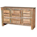 shutter panel sideboard with 3 drawer reclaimed timber
